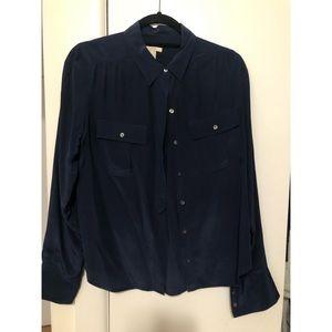 J. Crew 100% silk button down blouse